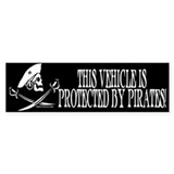 This Vehicle Protected By Pirates Bumper Décalcomanies auto