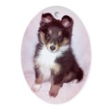 Sheltie Easter Puppy Oval Ornament