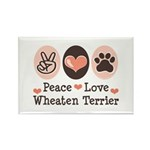 Peace Love Wheaten Terrier Rectangle Magnet