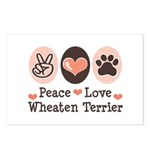 Peace Love Wheaten Terrier Postcards (Package of 8