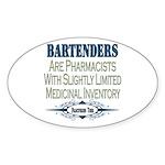 Bartenders Oval Sticker