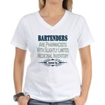 Bartenders Women's V-Neck T-Shirt