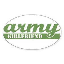 Army Girlfriend 2 Oval Decal