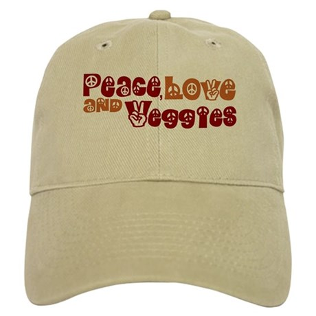 Peace, Love and Veggies Cap