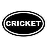 Cricket Euro Oval Decal