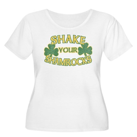 Shake Your Shamrocks Womens Plus Size Scoop Neck