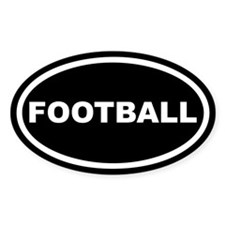 Football Euro Oval Decal