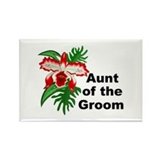 Aunt of the Groom Rectangle Magnet