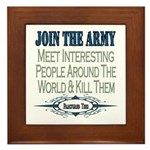 Join The Army Framed Tile
