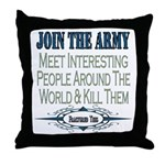 Join The Army Throw Pillow