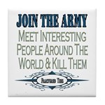 Join The Army Tile Coaster
