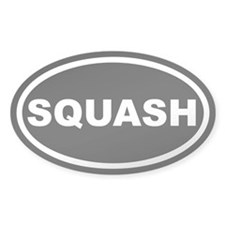 Squash Euro Oval Decal