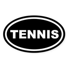 Tennis Euro Oval Stickers