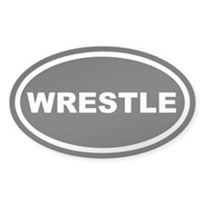 Wrestle Euro Oval Decal