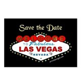 Las Vegas Save the Date Postcards b&g (Pkg. of 8)