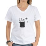 Needle and Thread - Sewing Cr Women's V-Neck T-Shi