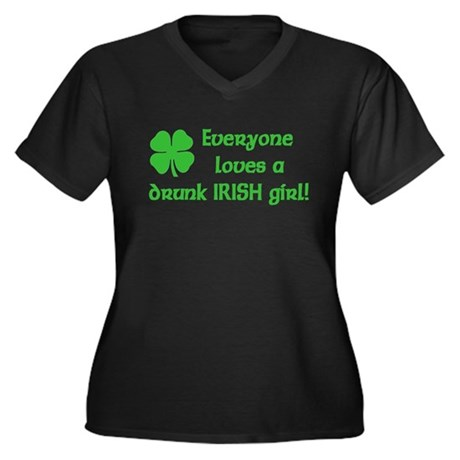 Irish Girl Women's Plus Size V-Neck Dark T-Shirt