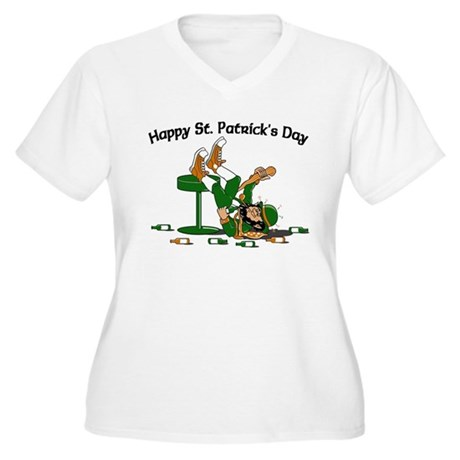 St. Patrick's Day Women's Plus Size V-Neck T-Shirt