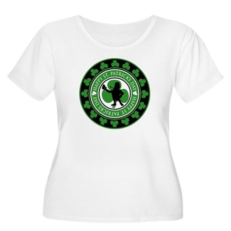 St. Patrick's Day Women's Plus Size Scoop Neck T-S