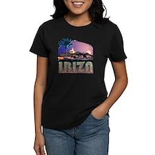 Ibiza Old Town Women's Black T-Shirt