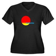 Katharine Women's Plus Size V-Neck Dark T-Shirt