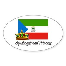 Equatoguinean Princess Oval Decal