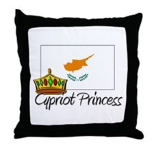 Cypriot Princess Throw Pillow