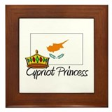 Cypriot Princess Framed Tile