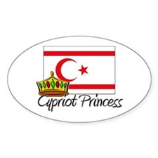 Cypriot Princess Oval Decal