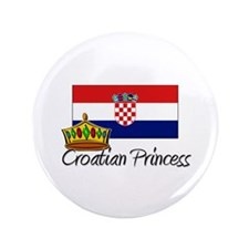 "Croatian Princess 3.5"" Button"