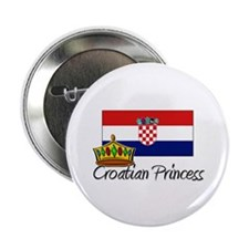 "Croatian Princess 2.25"" Button"
