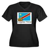 Congolese Princess Women's Plus Size V-Neck Dark T