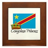 Congolese Princess Framed Tile