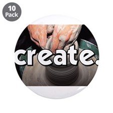 "Pottery Wheel - Create - Craf 3.5"" Button (10 pack"