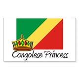 Congolese Princess Rectangle Decal