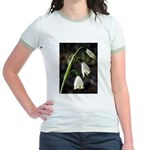 Floral Lanterns Jr. Ringer T-Shirt
