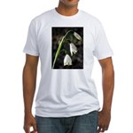 Floral Lanterns Fitted T-Shirt