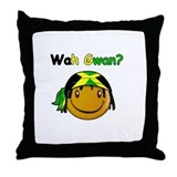 Wah Gwan? Jamaican slang Throw Pillow