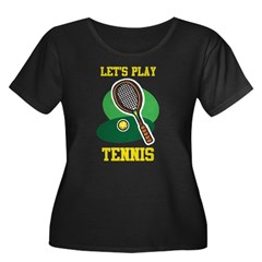 Let's Play Tennis Women's Plus Size Scoop Neck Dar