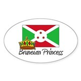 Bruneian Princess Oval Decal