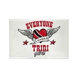 Everyone loves a Trini Girl Rectangle Magnet (100