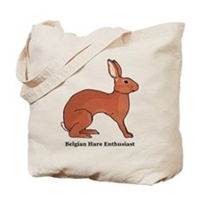 Belgian Hare Enthusiast Tote Bag