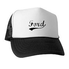 Vintage Ford (Black) Trucker Hat