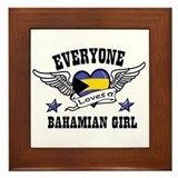 Everyone loves a Bahamian girl Framed Tile