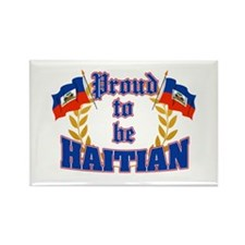 Proud to be Haitian Rectangle Magnet