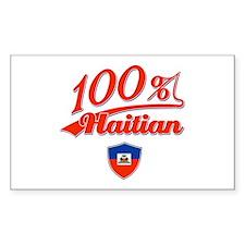 100% Haitian Rectangle Decal