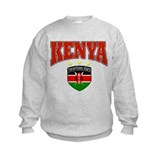 Kenyan soccer shield with Harambee stars text Sweatshirt
