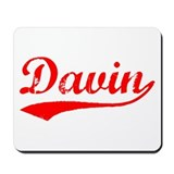 Vintage Davin (Red) Mousepad