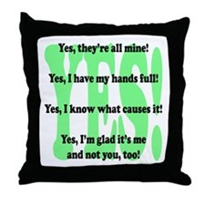 Unique All hands Throw Pillow