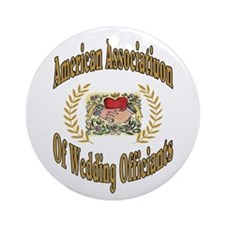 American Assn Wedding Officiants Ornament (Round)